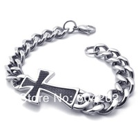 """Jewelry!Free Shipping!Retail+Wholesale 316L Stainless Steel  8.8""""  men's Bracelets 10021708"""