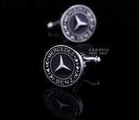 BENZ Car Sign Shape cufflinks,men's hot sell cuff links  AS-9