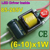 5pcs/lot6-10x1W LED lamp inside driver supply Iside driver CE comfirm 85-265V input forE27E4lamp quality freeshippingZYE6-10-1E