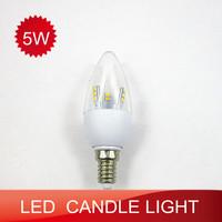 10pcs LED candle lamp 5W E14 SMD2835 360 degrees of light warm white/cold white energy saving lamp