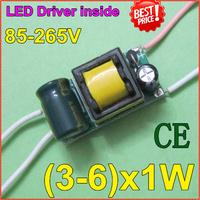 5pcs/lot3-6x1W LED lamp inside driver supply l Iside driver CE comfirm 85-265V input forE27E4lamp quality freeshippingZYE3-6-1E
