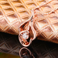 2014 New Fashion Jewelry!18K rose gold plated Luxury Exquisite Unique Charming Style Crystal Pendant Necklaces JewelryN047