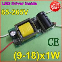 5pcs/lot9-18x1W LED lamp inside driver supply Iside driver CE comfirm 85-265V input forE27E4lamp quality freeshippingZYE9-18-1E