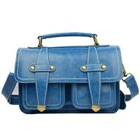 women messenger bags  4 kinds of color cowhide leather handbag flesh red shoulder bags