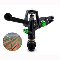 Hihgt Quality Plastic Double Automatic Rotation Nozzle Lawn Sprinkler Free Shipping