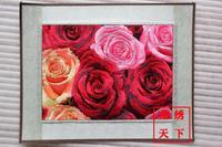 Unique gift suzhou embroidery computer embroidery painting suzhou embroidery decorative painting embroidery painting three-color