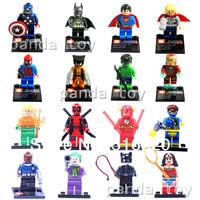 Marvel Super Hero Figures Toys 16pcs/lot Building Blocks Sets Model Bricks The Avengers Fantastic Four Classic Toys & Hobbies