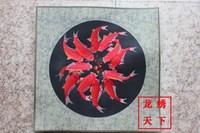 Unique gift suzhou embroidery computer embroidery painting suzhou embroidery decorative painting embroidery painting fish