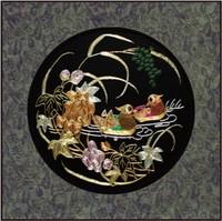 Suzhou embroidery handmade soft finished products decorative painting paintings suzhou embroidery peony crafts gift loofah