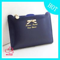 Fresh small bow ultra-thin gentlewomen women's wallet short and long design card holder