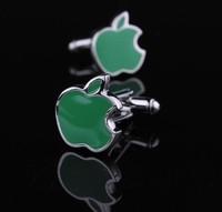Classic green fruit shape cufflinks, men's cuff link . free shipping! AS-63