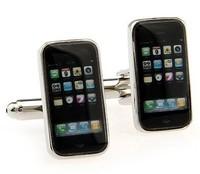 phone-shaped cufflinks ,Interesting cuff link AS-58