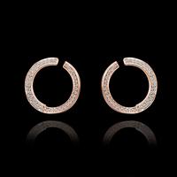 Fashion Hot Selling New Style Classic Luxury Shiny Rhinestone Stud Earrings,Wholesale 18K gold plated Stud Earrings E616