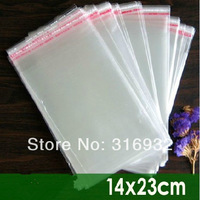 E4 Clear Resealable Cellophane/BOPP/Poly Bags 14*23cm  Transparent Opp Bag Packing Plastic Bags Self Adhesive Seal