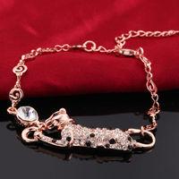 2014 New arrival!18K rose gold plated Austria Crystal bracelets fashion women jewelry,Wholesale jewelry B002