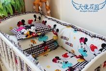 2014 hot baby crib bedding set, cartoon pattern around the crib bedding set quilt baby bedding kit mattress pillow baby bedding(China (Mainland))