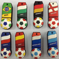 2014 NEW 8pcs/lot Hot sale - National football color bar 4 - 32GB USB 2.0 Flash Memory Stick Drive U Disk  Free HK post