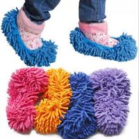 C122 ultrafine fiber chenille clean shoes cover grazing slippers single