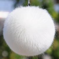 Ultralarge faux fox fur ball bags hangings key chain buckle mobile phone lanyards plush ball