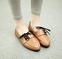 New Women's Fashion Lace Up Ankle Boots Colorblock Round Toe Preppy Retro Shoes Wholesale 1Pair