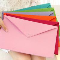Ann stationery solid color candy color felt paper bags a4 folder storage bag