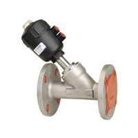 KLQD completely stainless steel angle seat valve with flange