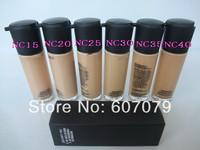 Free HK POST (2pcs/lot) Brand makeup liquid Foundation Matchmaster foundation SPF 15 35ML 6 colors (NC15 20 25 30 35 40)