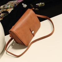 2014 faux small bag vintage candy color brief one shoulder messenger bag handbag women's messenger bag