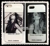 popular stars Lady Gaga Angelina Jolie Marilyn Monroe Audrey Hepburn sexy women Madonna TPU case cover for apple iphone 5 5g 5s