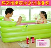 Water beauty lengthen thickening insulation inflatable bathtub folding tub adult bathtub plastic shower bath bucket