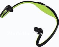 Free shipping Portable Wireless neckband Earphones Headset Handsfree Sport mp3 Player TF Card FM Radio Function