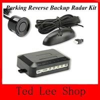 12V Car Parking system Reverse Backup Radar Car vehicle Parking Reverse Backup Radar kit 4 Sensor System Detect Alarm