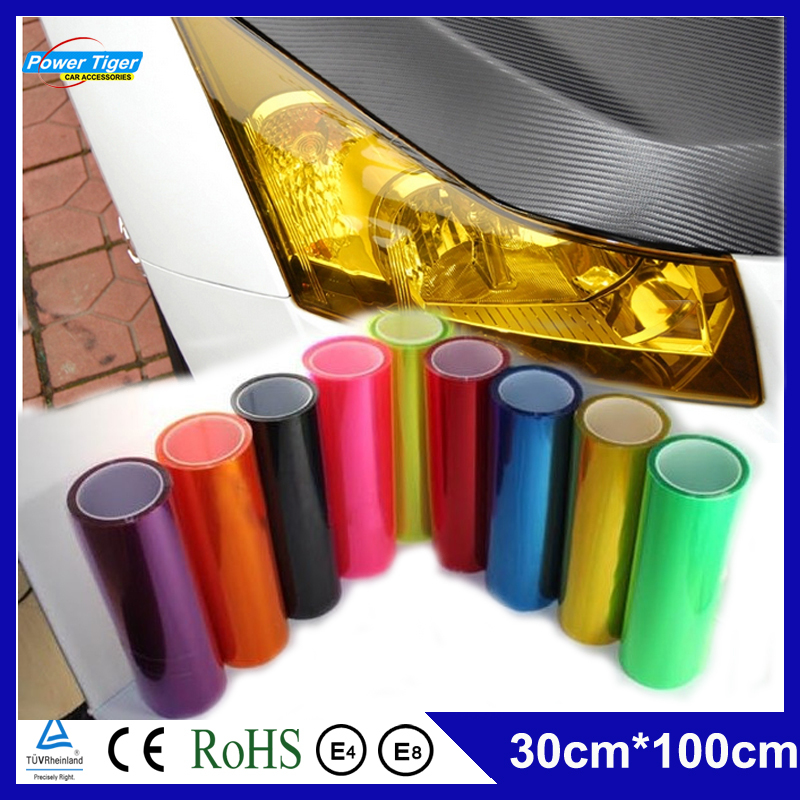 30cm*100cm DIY Auto Motorcycle Car Sticker Fog Light Headlight Taillight Tint Vinyl Film Car Styling Car Decoration Decal(China (Mainland))