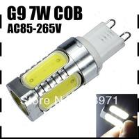 Ultra Bright Mini G9 7W COB LED Lamp Ceramic Bulb Light Beads Spotlights AC85-265V Cold white/warm white CE/RoHS