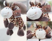 Super cute 1pc 25cm creative nici funny giraffe plush school pen bag pencil case stuffed toy children gift