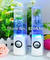 LED Bluetooth Wireless Vibration Speaker FM Radio USB TF Card MP3 Player Bass Water Dance Bluetooth Speaker+Free Shipping