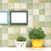 Wallpaper eco-friendly mosaic wall stickers wallpaper waterproof bathroom tile stickers  200CM*100CM