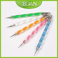 Nail Dotting Pen Set 20 Sets 5 x 2 Ways Nail Art Tool Dot Kit Free Shipping Acrylic Handle Dotter