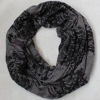 Free shipping Europe fashion style spring autumn neckerchief scarf Ring black Dk grey printed scarves Undershirt cloth men women