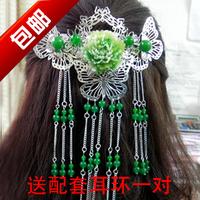 Hot-selling child classical hair stick hanfu accessories costume hair accessory tassel hair accessory insert comb hair clip