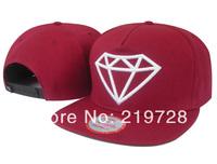 Free Shipping big diamond Snapback Hats Black blue red brim Adjustable Caps fashion hip hop new arrival baseball hat
