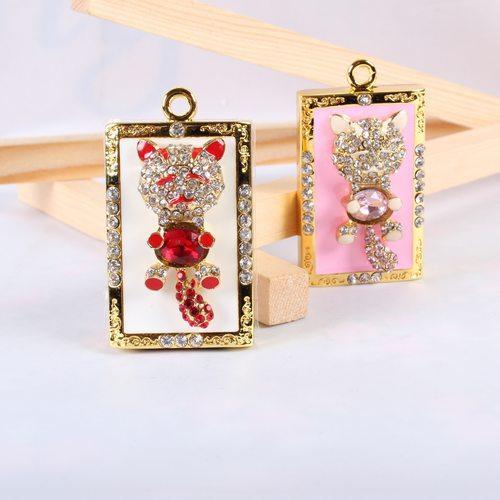 jewelry usb drive gift diamond necklace hello kitty pen drive 8gb 16gb 32gb pen drive flash cat animal usb pendrive memory stick(China (Mainland))