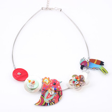Bird New 2014 fish flower Spring style parrot necklace fashion necklace & pendant for girls woman lovely chain necklace popular