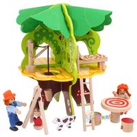 Female child toy big tree child toy house