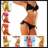 2014 Chic Push up Swimwear Ladies Padded Bra Bathing Bikini Swimsuit Set Tankini for Women Beachwear Bathers