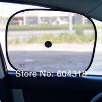 2pcs set black car sun shade auto side window Sunshade Cover Mesh Visor Shield Screen pad sun block pad free shipping