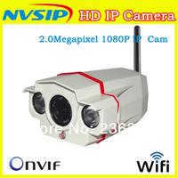 NVSIP Waterproof Onvif 2MP WIFI IP Camera  Full HD 1080P 1920x1080 25fps Network IP Camera Outdoor Security webcam