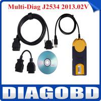 2014 Latest 2013.02V Multi-Diag Access J2534 Pass-Thru OBD2 Device Multi-Diag 2013.02V Car Diagnostic Tool with Fast Shipping