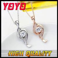 2014 Seconds Kill New Arrival Fashion Brand Women Necklace,18k Rose Plated Imitation Diamond Symbol Necklaces Pendants, Ixl029