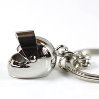 2 Pcs Creative Motorcycle Bicycle Helmet Key Chain Ring Keychain Keyring Key